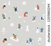 winter season background simple ... | Shutterstock .eps vector #1205883244