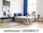 bedroom design in modern... | Shutterstock . vector #1205884177