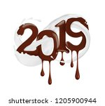 date of the new year 2019 year... | Shutterstock . vector #1205900944