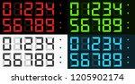 vector complete set of led... | Shutterstock .eps vector #1205902174