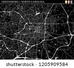 simple map of greensboro  north ...   Shutterstock .eps vector #1205909584
