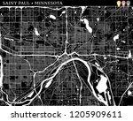 simple map of saint paul ... | Shutterstock .eps vector #1205909611
