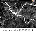 simple map of pittsburgh ... | Shutterstock .eps vector #1205909614