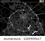 Simple map of Lexington, Kentucky, USA. Black and white version for clean backgrounds and prints. This map of Lexington contains three markers who are grouped and can be moved separetly
