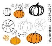 Vector Illustration Pumpkin...