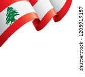 lebanese flag  vector... | Shutterstock .eps vector #1205919157