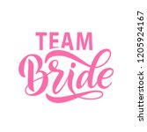 bride team word calligraphy fun ... | Shutterstock .eps vector #1205924167