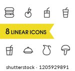 food icons set with burger ...