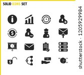 trade icons set with tie  arm...