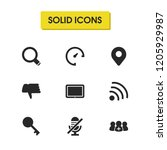 ui icons set with tablet  wifi...
