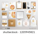 top view white brand identity... | Shutterstock .eps vector #1205945821