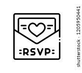 vector icon for rsvp | Shutterstock .eps vector #1205950441
