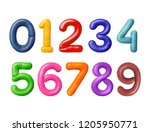 numbers are made of colored... | Shutterstock . vector #1205950771