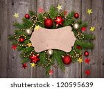 christmas vintage card with... | Shutterstock . vector #120595639