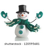 Cheerful Christmas Snowman  ...