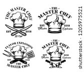 chef hat  the master chef ... | Shutterstock .eps vector #1205975521