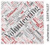 vector conceptual volunteering  ... | Shutterstock .eps vector #1205976157