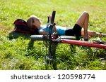 young cyclist enjoying... | Shutterstock . vector #120598774
