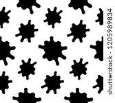 splashes seamless pattern on a ... | Shutterstock . vector #1205989834
