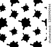 splashes seamless pattern on a ... | Shutterstock . vector #1205990944