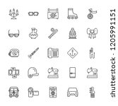 collection of 25 retro outline... | Shutterstock .eps vector #1205991151