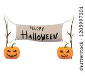 halloween background. vector | Shutterstock .eps vector #1205997301