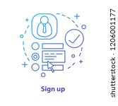 sign up concept icon. create... | Shutterstock .eps vector #1206001177