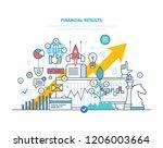 financial results. data... | Shutterstock . vector #1206003664