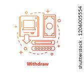 withdraw money concept icon.... | Shutterstock .eps vector #1206005554
