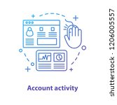 account activity concept icon.... | Shutterstock .eps vector #1206005557