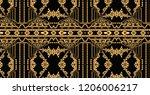 gold plaid ornamentation... | Shutterstock . vector #1206006217