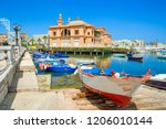 margherita theater and fishing... | Shutterstock . vector #1206010144