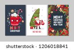collection of cute merry... | Shutterstock .eps vector #1206018841