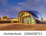 dubai metro station  mall of...   Shutterstock . vector #1206028711