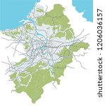taipei  taiwan streets  roads ... | Shutterstock .eps vector #1206036157