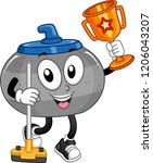 illustration of a curling stone ... | Shutterstock .eps vector #1206043207