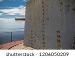 Gibraltar, United Kingdom, 1st October 2018:- O'Hara Battery at the summit of the Rock of Gibraltar. Gibraltar is a British Overseas Territory located on the southern tip of Spain. - stock photo