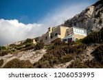Gibraltar, United Kingdom, 2nd October 2018:- A house at Europa Point, southern end of Gibraltar. Gibraltar is a British Overseas Territory located on the southern tip of Spain. - stock photo