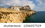Gibraltar, United Kingdom, 2nd October 2018:-Ibrahim-al-Ibrahim Mosque, Europa Point, Gibraltar. Gibraltar is a British Overseas Territory located on the southern tip of Spain. - stock photo