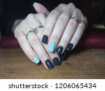 the manicurist excellently made ... | Shutterstock . vector #1206065434
