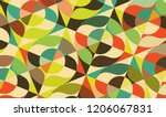 abstract colorful geometric... | Shutterstock .eps vector #1206067831