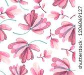 watercolor vintage succulents... | Shutterstock . vector #1206069127
