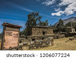 the funerary compound of ichic... | Shutterstock . vector #1206077224