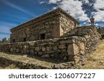 the funerary compound of ichic... | Shutterstock . vector #1206077227