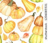 watercolor seamless pattern... | Shutterstock . vector #1206085531
