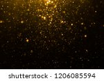 abstract gold bokeh with black... | Shutterstock . vector #1206085594