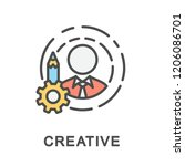 icon creative. ability to... | Shutterstock .eps vector #1206086701