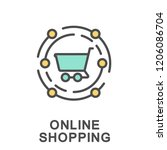 icon online shopping. shopping... | Shutterstock .eps vector #1206086704