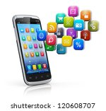 mobile applications  business... | Shutterstock . vector #120608707