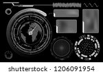 design of hud menu user... | Shutterstock .eps vector #1206091954